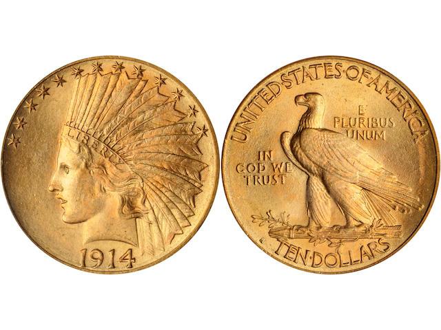 1914-S $10 MS64 PCGS
