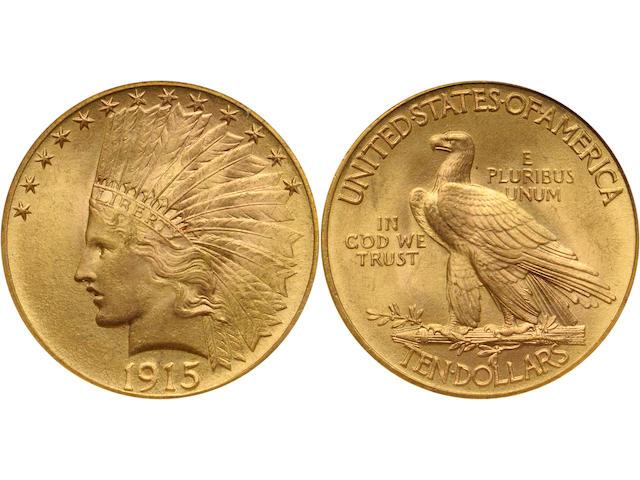 1915 $10 MS66 NGC