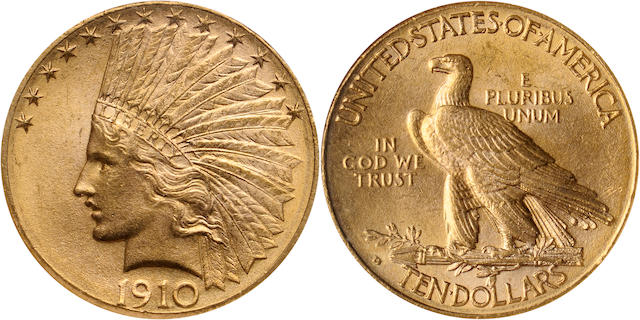1910-D $10 MS65 NGC