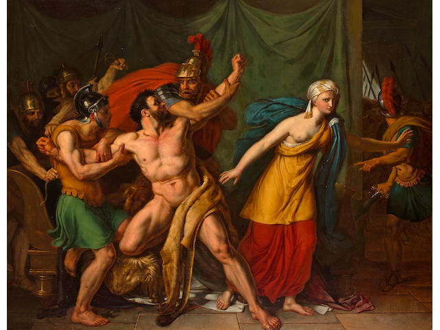 (n/a) French School, 19th Century Samson and Delilah 42 x 56 inches (106.7 x 142.25cm)