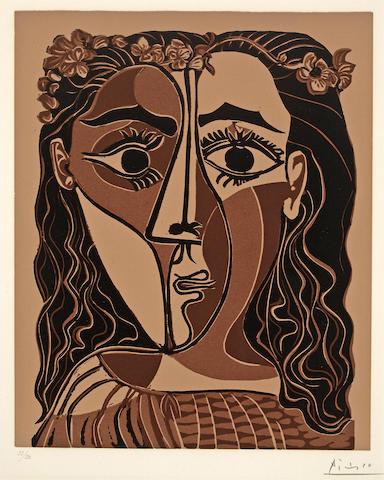 Pablo Picasso (Spanish, 1881-1973); Petite Tête de Femme couronnée;