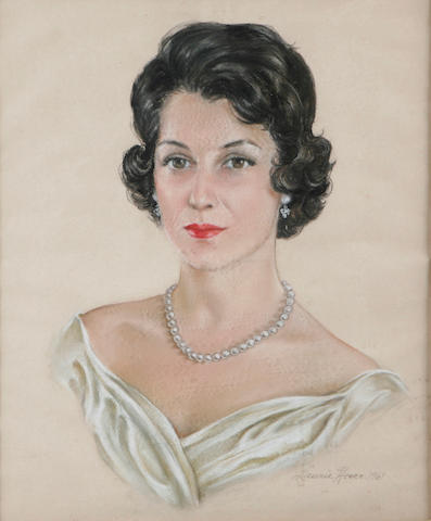 American School (20th Century) Portrait of a woman 21 1/2 x 17 1/2in