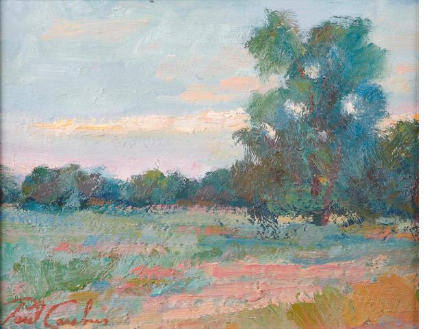 Paul Casebeer (American, 20th century) Impressionistic landscape 8 x 10in
