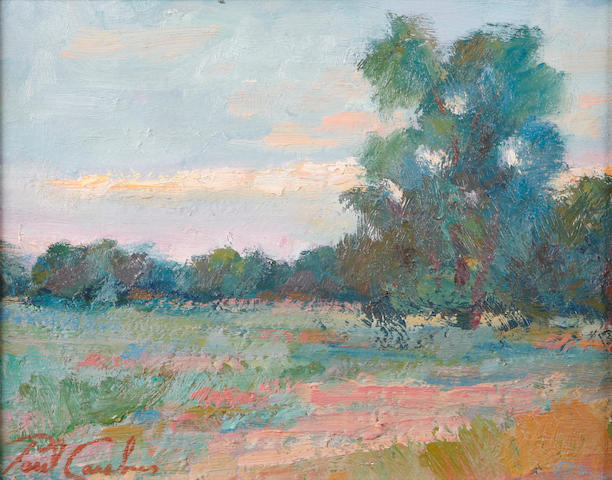 Paul Casebeer (American, 20th century) Impressionistic landscape 8 x 10in