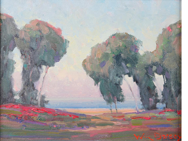 William Dorsey (born 1942) Flowers along a bluff 8 x 10in