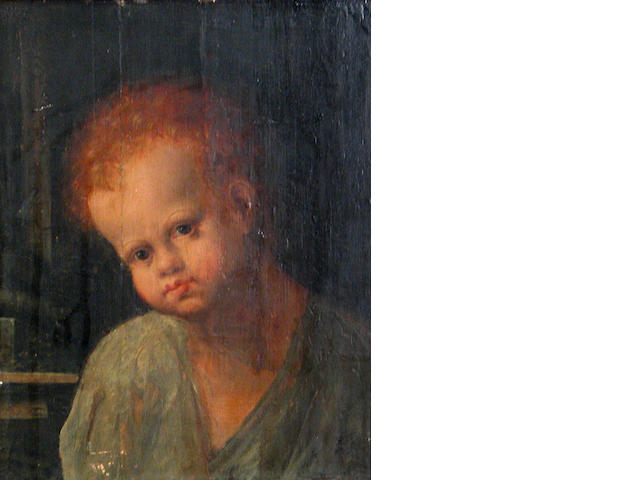 Italian School, A portrait of a young boy 12 x 9 1/4in