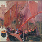 Kenneth Washburn, Venice scene, 1927 (studies verso), o/bd