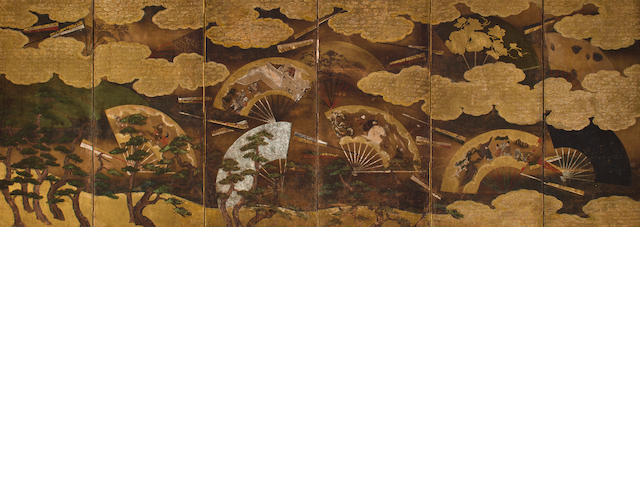 Anonymous (17th century) Floating Fans and Pines