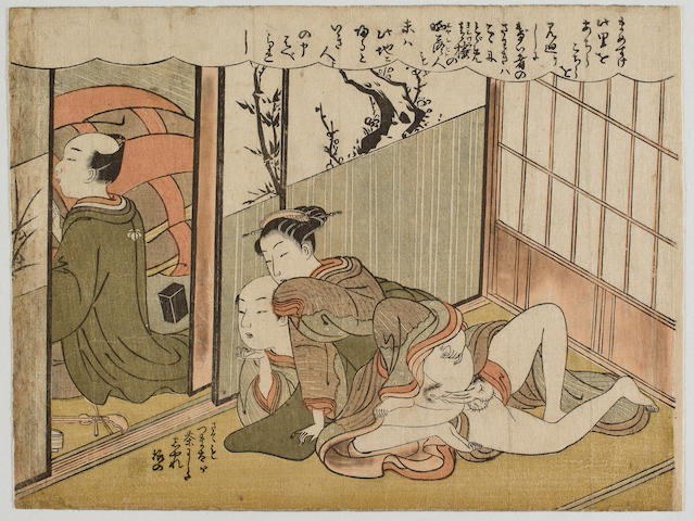 Attributed to Suzuki Harunobu (1725?-1770) 18th Century