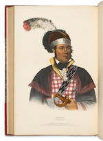 MCKENNEY, THOMAS L. 1785-1859. & JAMES HALL. 1793-1868. History of the Indian Tribes of North America. Philadelphia: Frederick W. Greenough; Daniel Rice & James G. Clark 1838-42-44.