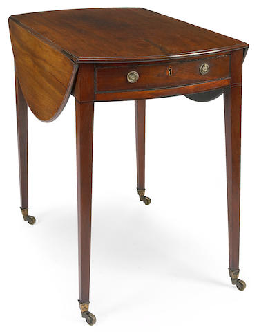 A George III mahogany pembroke table  late 18th century
