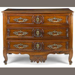 A Louis XV walnut commode