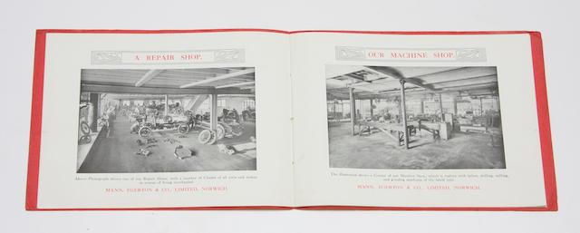 'Motor Specialists' Mann, Egerton & Co Ltd coachwork catalogue, 1909,