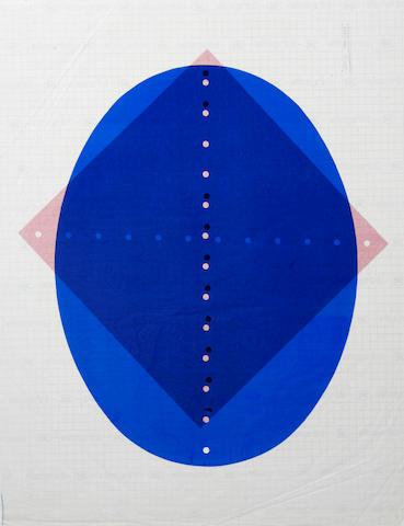 Lucio Fontana (Italian, 1899-1968); Concetto Spaziale rosso; Concetto spaziale blu; (2)