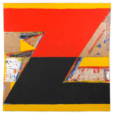 Thornton Willis (American, born 1936) Split N, 1984 (2 parts) each 84 x 42in unframed