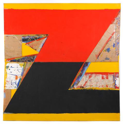 Thornton Willis (American, born 1936) Split N, 1984 (2 parts) each 84 x 42in unframed