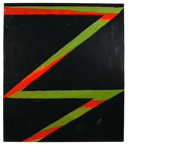 Thornton Willis (American, born 1936) Untitled (Black magic), 1982 80 x 90in unframed