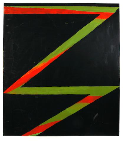 Thornton Willis (American, born 1936) Untitled (Black magic), 1982 80 x 90in unframed