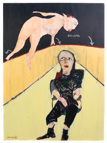 Michael Hafftka (American, born 1954) Elsa Sitting Eye Level, 1981; Man, 1982; Rumpelstilskin, 1983; 2 Men, 1982; Urban Piss, 1983; 2 Figures & Spook, 1982; Untitled, 1983; Man and Woman, 1983; Crotch, 1983; Five after twelve, 1984; Nuptial Figures, 1982 (11) each 78 x 62in unframed