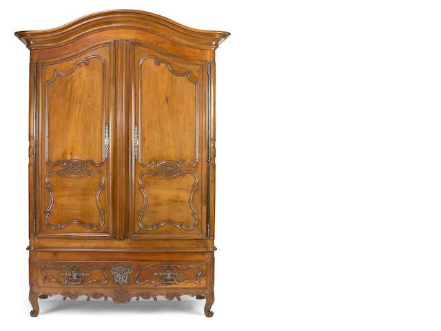 A Louis XV walnut armoire <br>third quarter 18th century