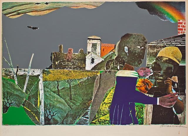 Romare Bearden (American, 1914-1988) Carolina Memory, 1970-1971 16 x 24in (40.6 x 61cm)