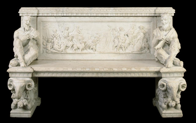 An Italian Renaissance style marble bench  second half 19th century