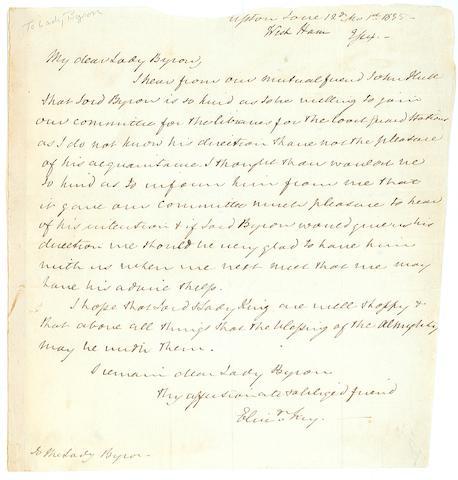 FRY, ELIZABETH. 1780-1845.