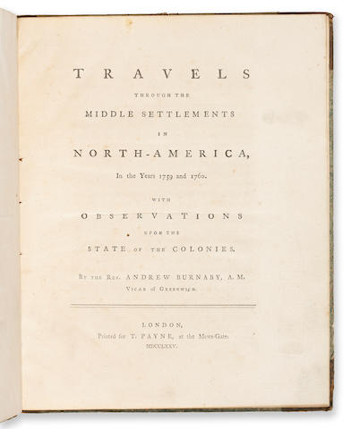 STEDMAN, CHARLES The History of the Origin, Progress, and Termination of the American War (2 vols) 1794 London.