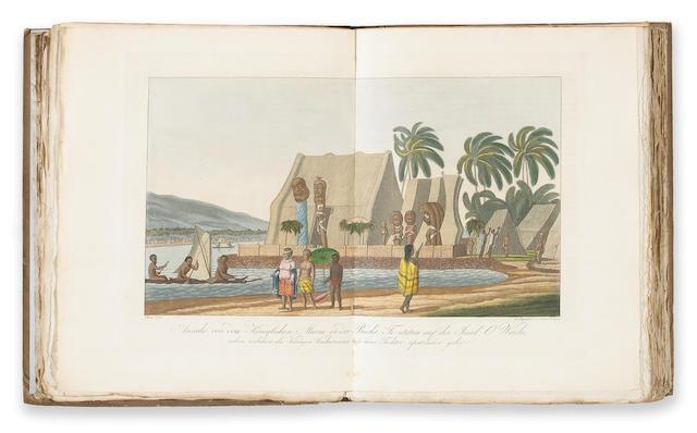 KOTZEBUE Endeckungs - Reise un di Sud-See und nach Berings-Strasse.  3 vols. In 1. 1821 Weimar.