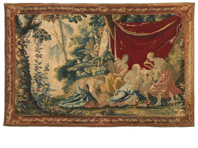 A French Baroque  mythological tapestry <br>late 17th/early 18th century