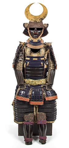 A black lacquer armor Edo period, 18th century