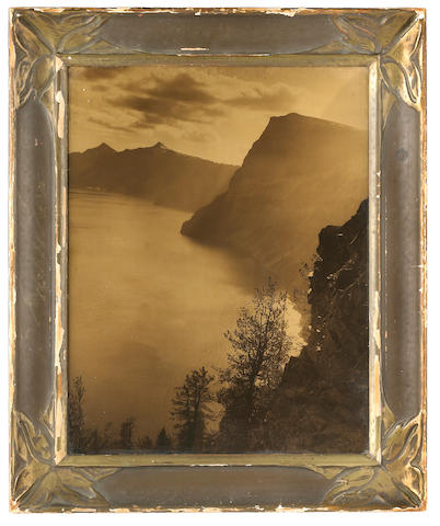 Anonymous; Mountains and Coastal Scene orotone (large format);