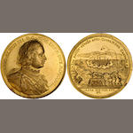 Russia, Peter I the Great, Gold Medal of 20 Ducats, 67.74 g., dated 1710