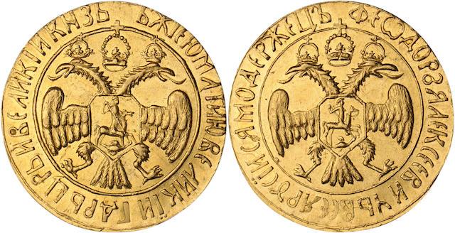 Russia, Feodor III, 1676-1682,  2 Ducats, ND