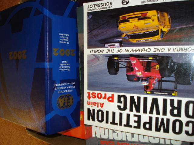 A collection of motor racing books,