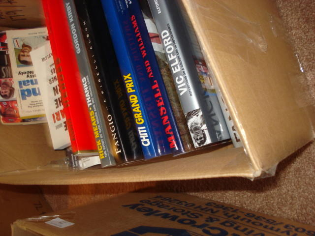 A quantity of motor sport related history books,