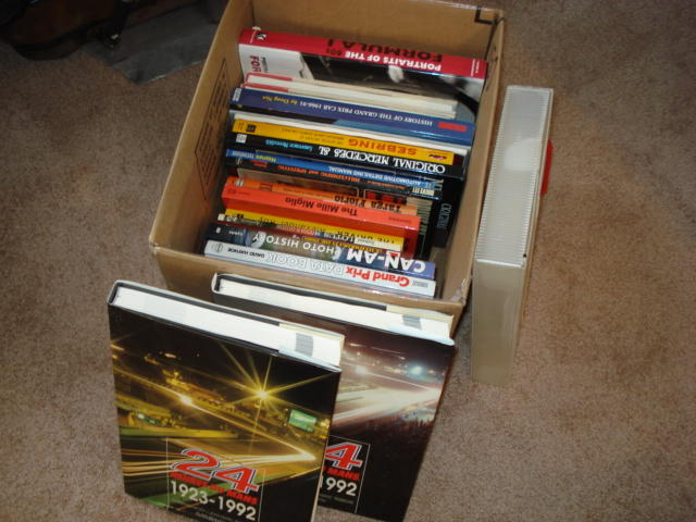 A quantity of motor sport history books,