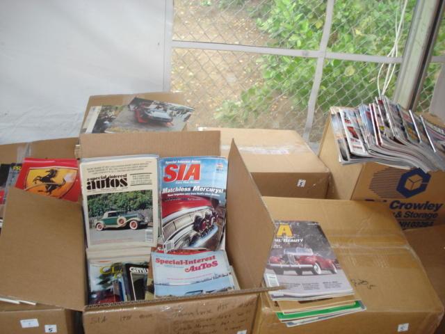 An assortment of motoring publications,