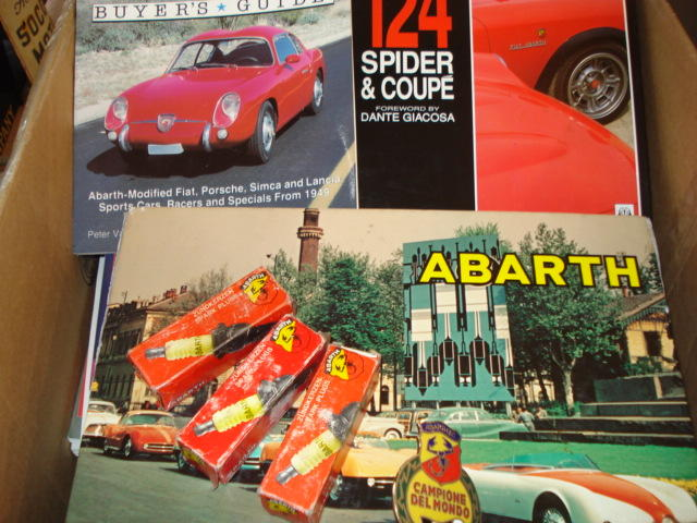 A selection of Abarth material,
