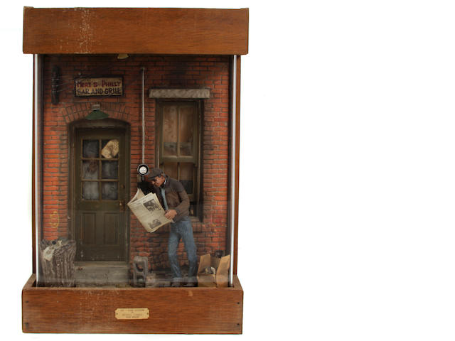 Michael Garman (American, born 1938) Door Window (City Scape Sculpture) 29 1/4 x 19 3/4 x 10in