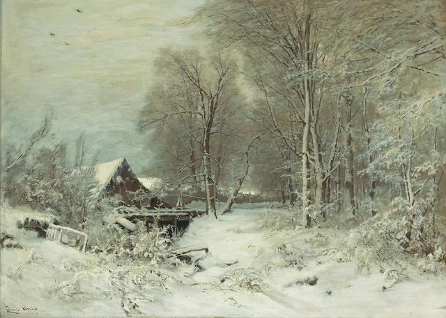 Louis Apol (Dutch, 1850-1936) Winter landscape 31 1/2 x 44in (80 x 111.8cm)