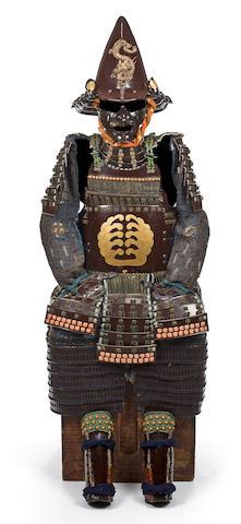 An armor with a toppai nari kabuto Momoyama/Edo period, early 17th century