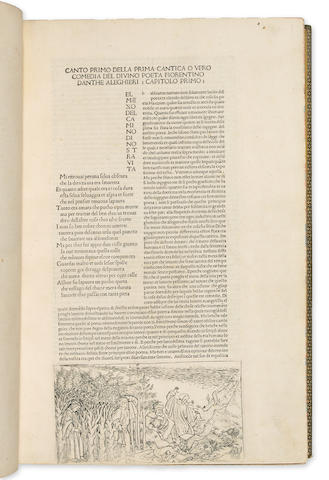 DANTE. [Divina Commedia, commentary by Christforo Landini]. Florence, 1481. Folio.