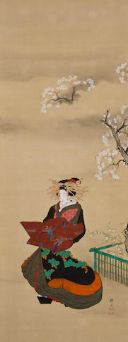 Teisai Hokuba (1771-1844)  Three beauties