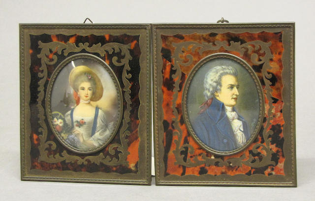 Two portrait miniatures early 20th century