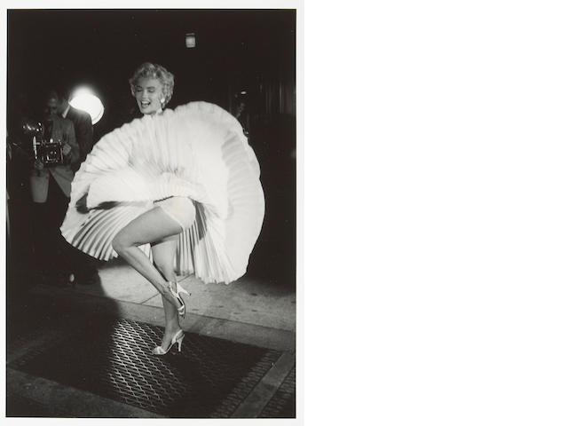 George S. Zimbel (American, born 1929); Marilyn Monroe Shooting the Seven Year Itch with Billy Wilder, New York; (9)
