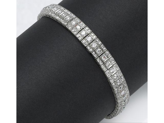 An art deco diamond bracelet, circa 1930's