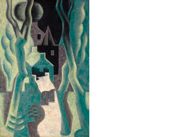 Jean Metzinger (French, 1883-1956) Paysage, circa 1920 36 1/4 x 23 3/4in (92 x 60.3cm)