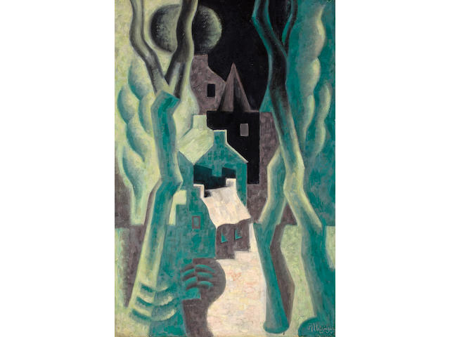 (n/a) Jean Metzinger (French, 1883-1956) Paysage, 1920-1921 36 1/4 x 23 3/4in (92 x 60.3cm)