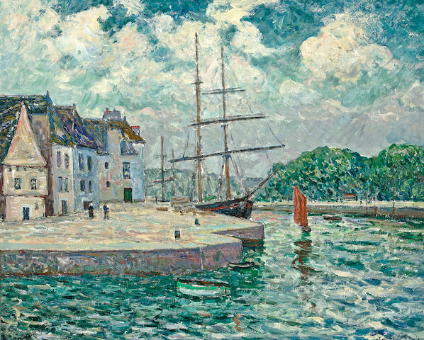 Maxime Maufra (French, 1861-1918) Le port d'Auray, circa 1905 23 5/8 x 28 3/4in (60 x 73cm)